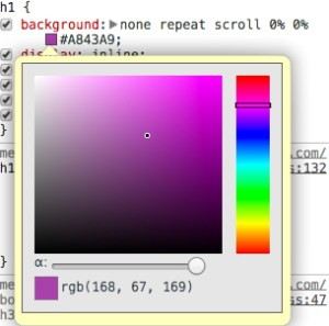 Chrome Colour Picker
