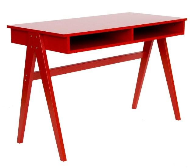 Schreibtisch Cubo in Rot von CADA Design designbotschaft GmbH