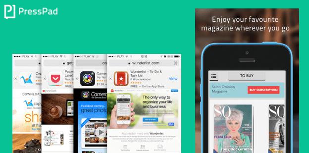 Boost installs of the digital magazine mobile app