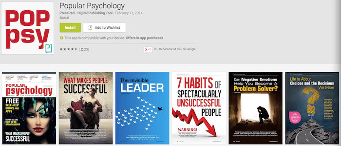 Popular Psychology Google Play - Android