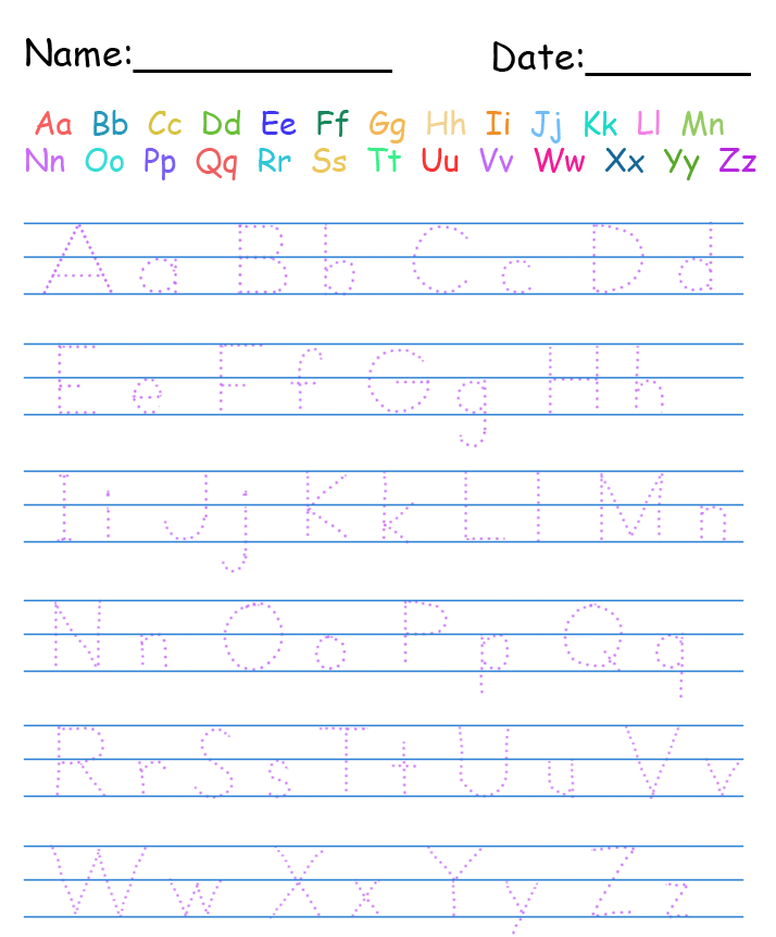 Printable Handwriting Worksheets For Kindergarten Free Worksheets – Free Handwriting Worksheets
