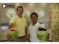 custom printed paper yogurt cups