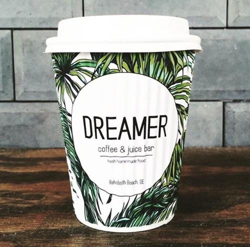 Custom Paper Coffee Cups- Dreamer Coffee and Juice www.custompapercup.com