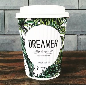 Custom Paper Coffee Cups- Dreamer Coffee and Juice www.custompapercup.com
