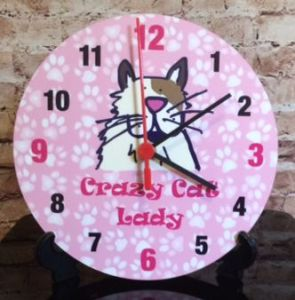 Alfie Moon Designs - Crazy Cat Clock