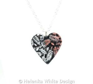 Helenka White Design - Fern Heart Pendant