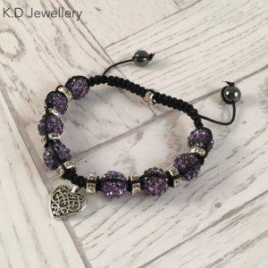 K.D Jewellery - Macrame Charm Bracelet