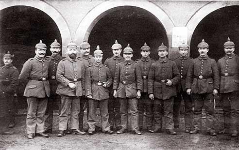 Les militaires allemands qui gardaient le bastion