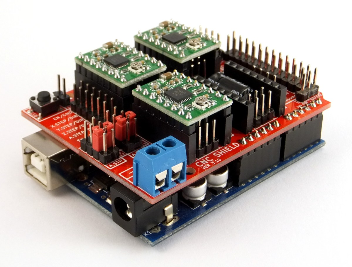 Arduino Cnc Shield 100 Grbl Compatable Protoneerconz Relay Wiring Further Board As Well 2