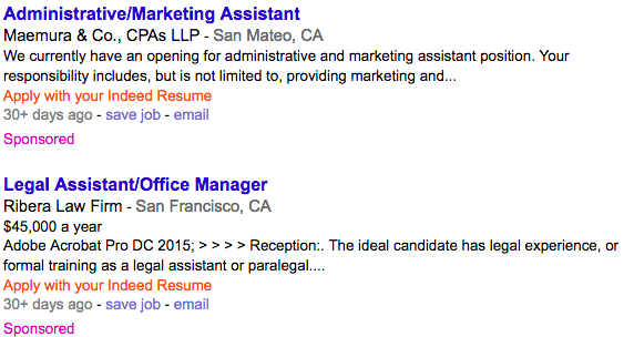 Administrative Assistant Example without Spacing