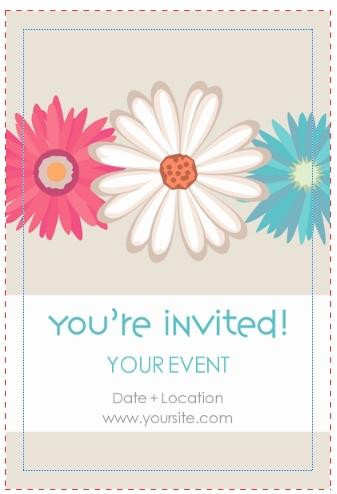 April Invitation Card Template Invite