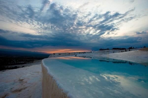 Pamukkale thermal pools via purple travel