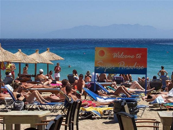 Beach Bars in Greece: superparadise