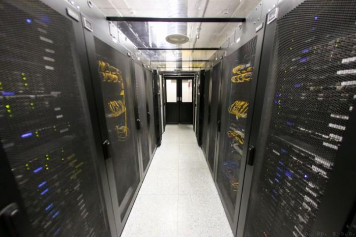 Przykładowe centrum danych skąd świadczone są usługi SaaS