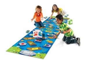 Kids playing Crocodile Hop Floor Game