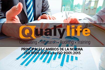Principales cambios de la norma ISO 9001. De la 9001:2008 a la 9001:2015