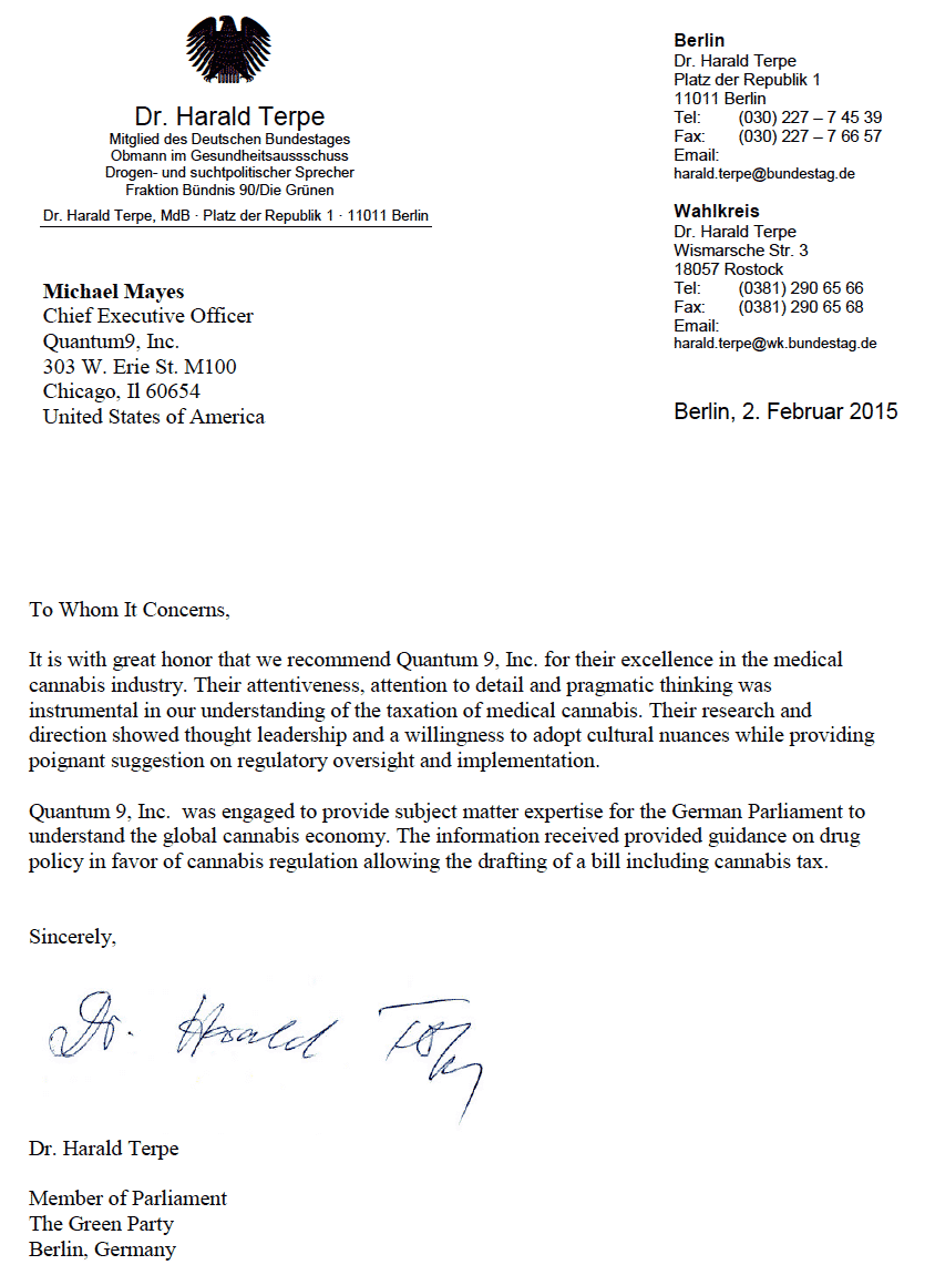 Letter of Recommendation_German Government