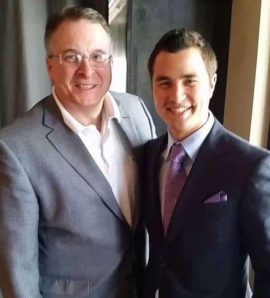 Senator Michael Jacobs and Michael Mayes