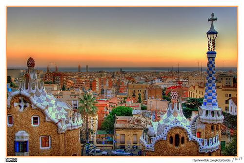 La ciudad de Barcelona, vista desde Parc Güell