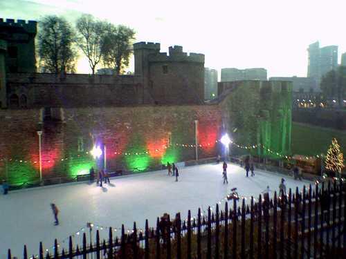 Pista de patinaje de la Torres de Londres