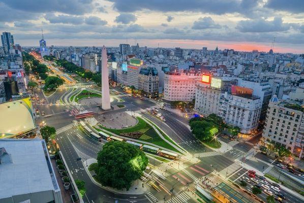 Avenida 9 de julio en Buenos Aires