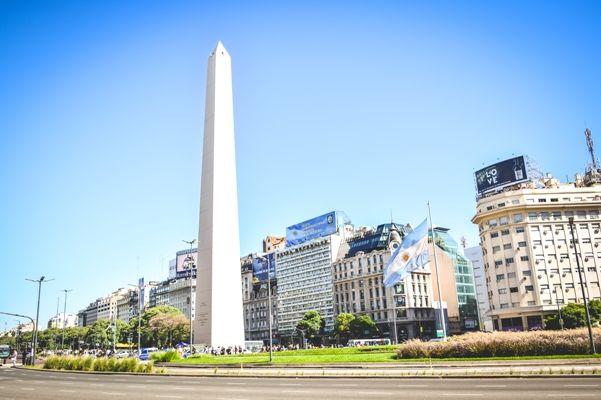 Avenida mas ancha del mundo en Buenos Aires