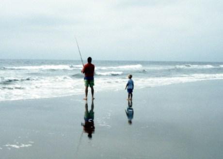Playa, mar, pesca