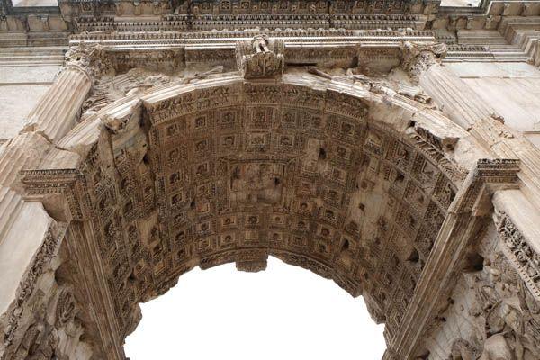 Arco de Constantino en Roma - detalle -