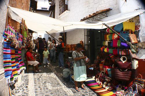 Tiendas de artesanía en Taxco