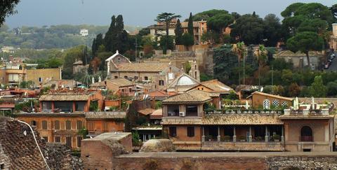 Vista panorámica de Roma