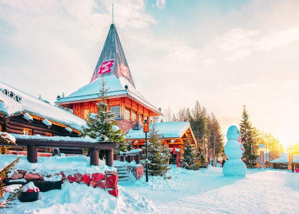 Papá Noel en Rovaniemi
