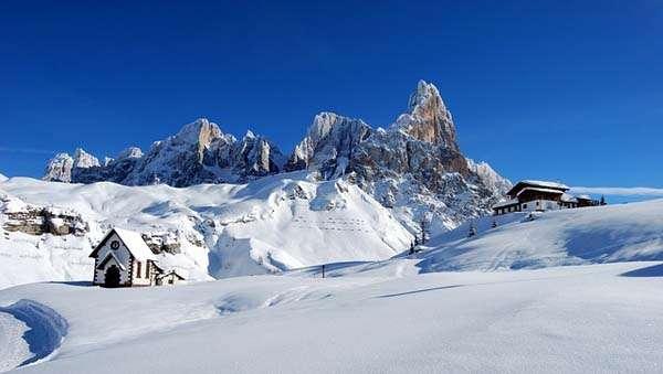 Esquí en los Dolomitas