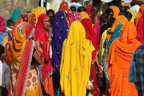 India - saris de colores