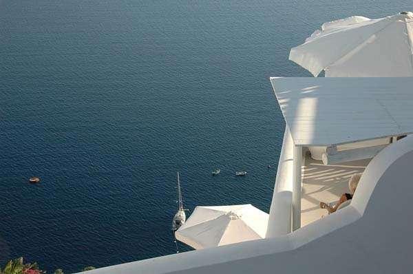 Vistas desde Santorini