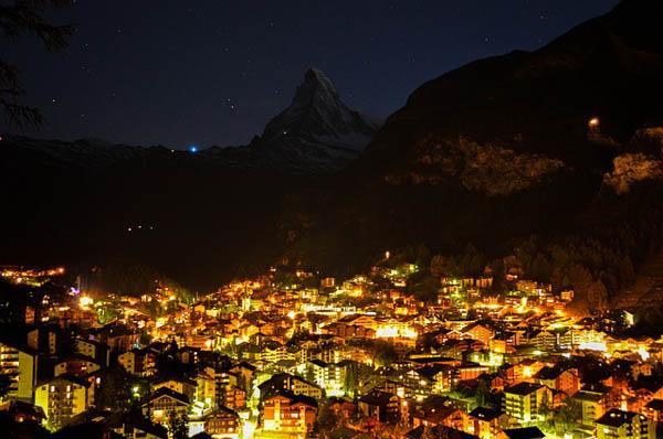 Zermatt de noche