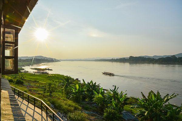 Rio Mekong en Loei Tailandia