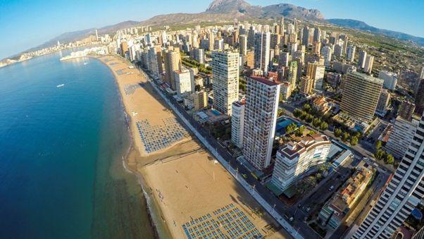 Vista aerea de Benidorm - Alicante