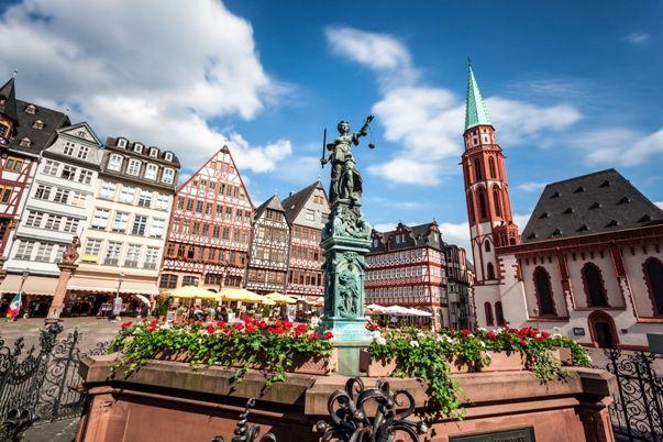 Plaza Romerberg en Frankfurt