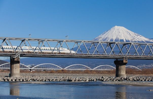 Tren Shinkansen en Japón