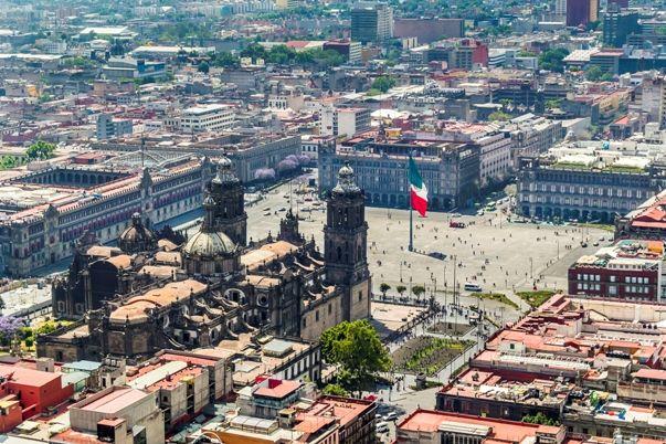 Vista aerea de Ciudad de Mexico