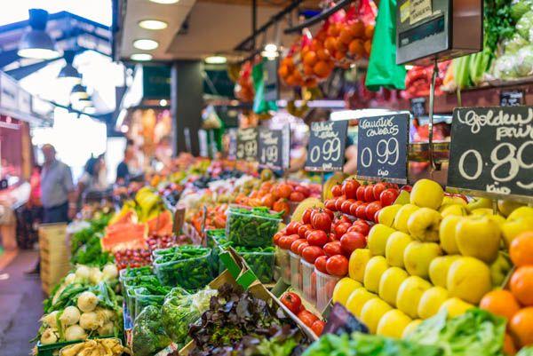 Mercado de la Boqueria en Barcelona