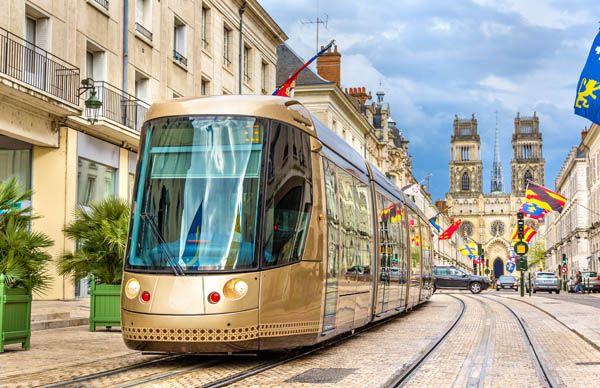 Tranvía en Orleans