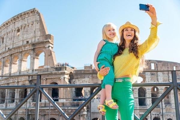 Viajar con niños en invierno a Roma