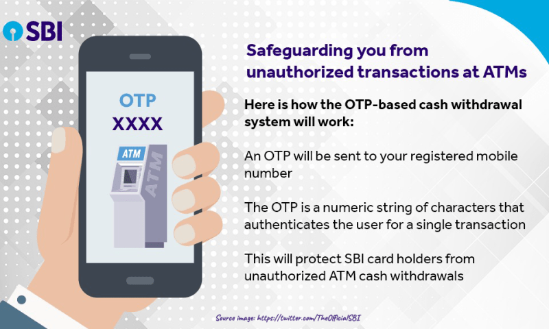 SBI Announces to Launch-OTP Based ATM Cash Withdrawals from January 1, 2020