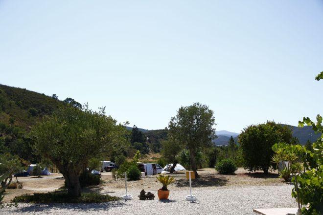 Uitzicht naar het westen op Quinta de Odelouca