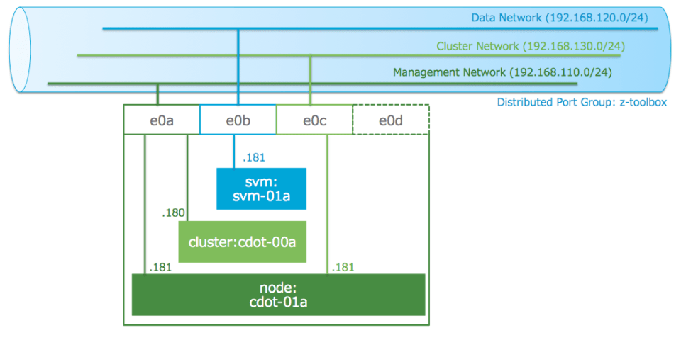 physical network for clustered data ontap