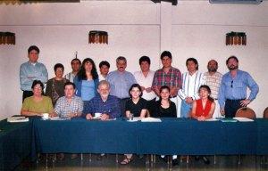 Taller con compañeros de otras instituciones durante un taller de sistematización