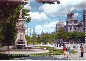 Paseo del Prado. Madrid - Postal (1964) Front
