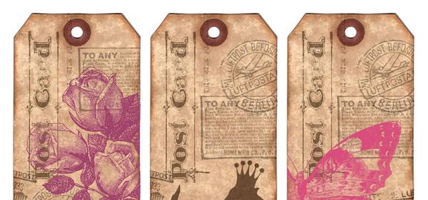 Etiquetas vintage para imprimir