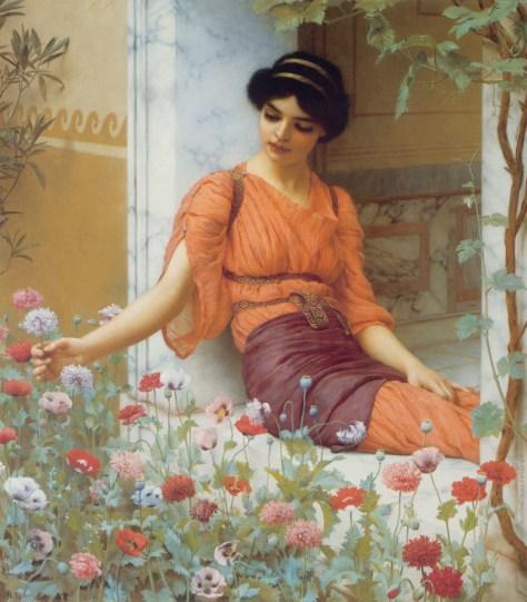 Summer Flowers, John William Godward, 1903